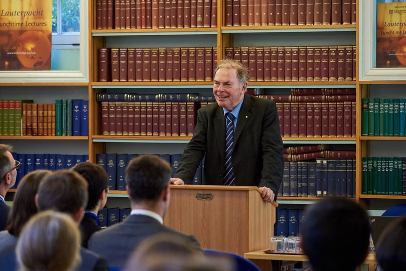 Judge James Crawford at the Lauterpacht Centre for International Law